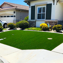 Front Yard with Artificial Grass