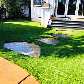 Stone Path with Artificial Grass