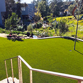 Back Yard with Artificial Grass